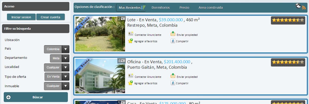 Casas en arriendo, amplia oferta de inmuebles para rentar en Bogotá, Medellín, Cali y todo el territorio colombiano.